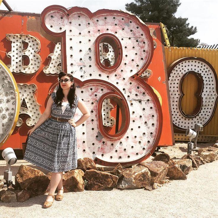 """102 Likes, 1 Comments - Bethany Cookson (@missboogie.b) on Instagram: """"B! 😜 #neonmuseum #vivalasvegas #vegas #motel #casino #viva17 #VLV17"""""""