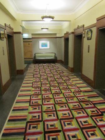 Funky carpet in the hallways, Grace Hotel, Sydney