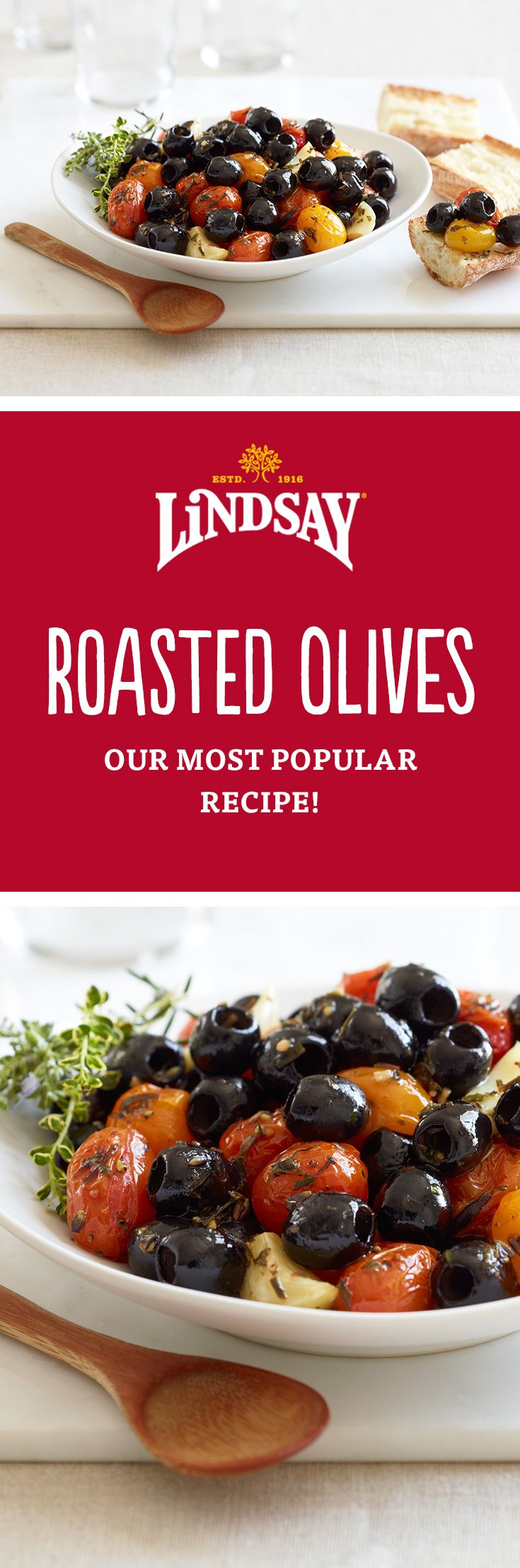 Our most popular appetizer! This easy Roasted Olives recipe combines black…
