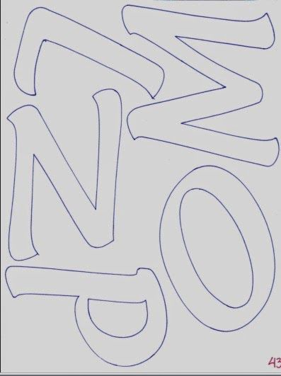 Alphabet of elongated capital letters - Fomiart