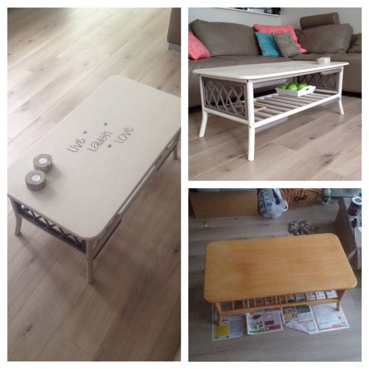 restyled old coffee table