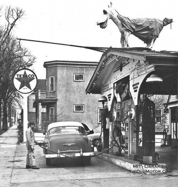 The Old Nag Texaco Gas Station. Revere, Mass.  1956.