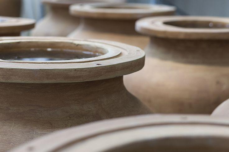 Anfore di terracotta per affinamento Grappa Anfora
