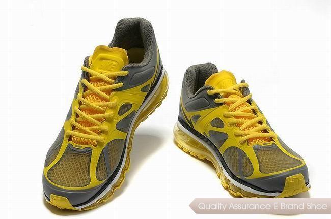 nike air max 2012 mens gray yellow sneakers p 2296