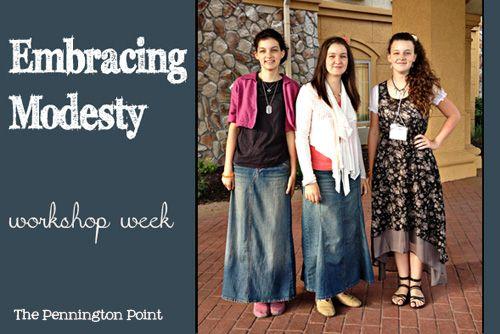 Embracing Modesty -- teen workshop clothing