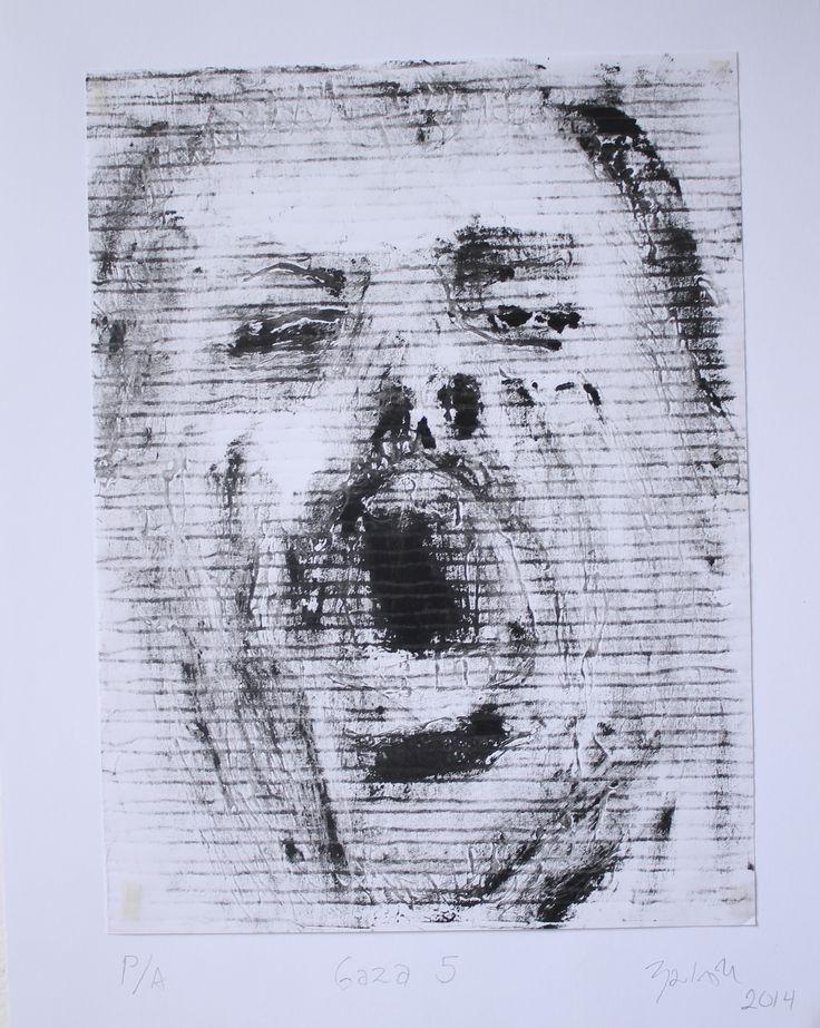 Serie Gaza # 5 Grabado sobre Papel 28x22 cm