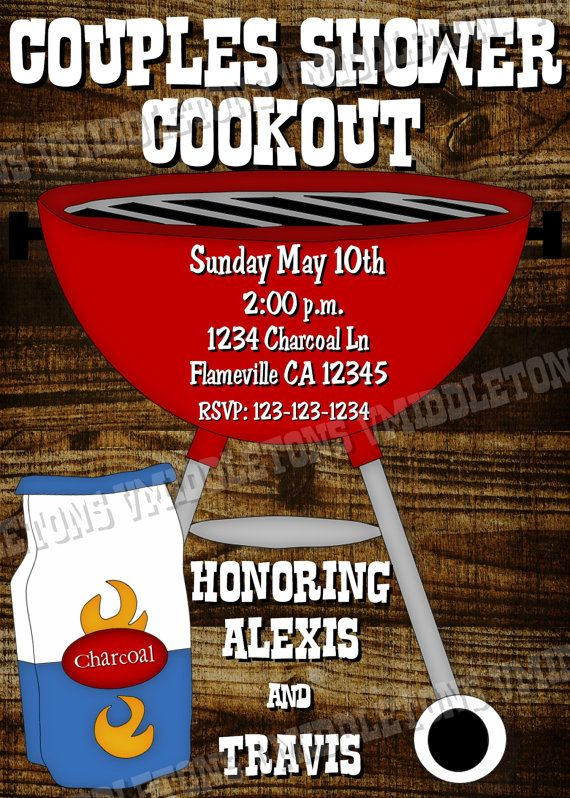Couples Bridal Shower/Cookout - this is what I want. So many will miss my wedding because its so far. This'll be a way to celebrate with my local fam.