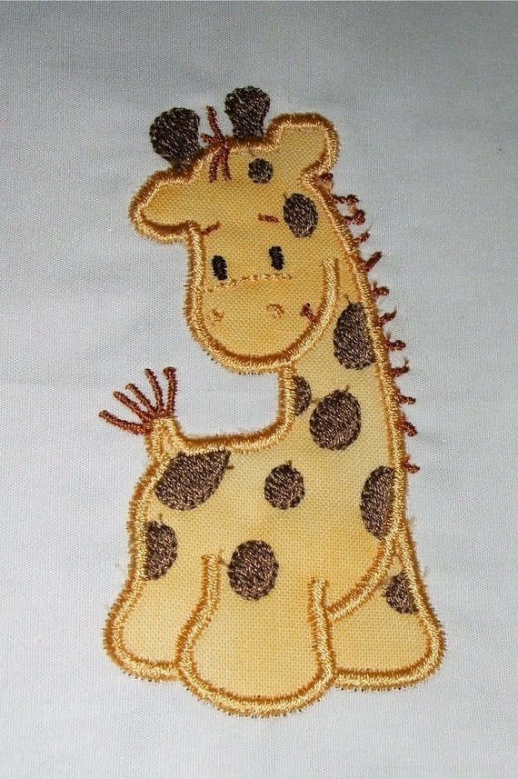 Giraffe Applique and Fill designs 4x4 and by DBembroideryDesigns, $3.99