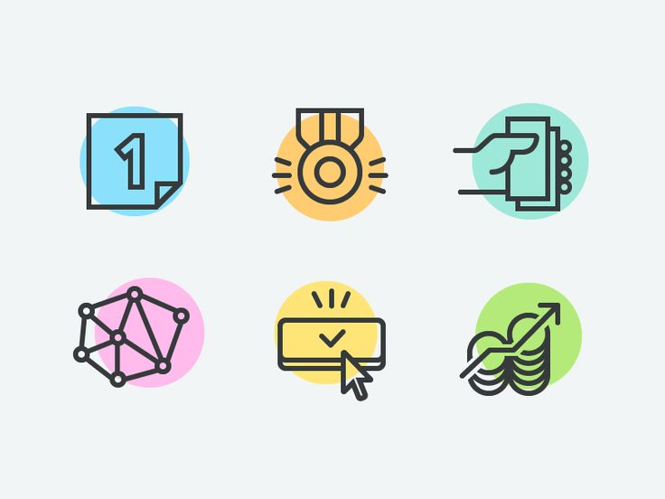 Investment And Finance Icons by Young Kang #Design Popular #Dribbble #shots