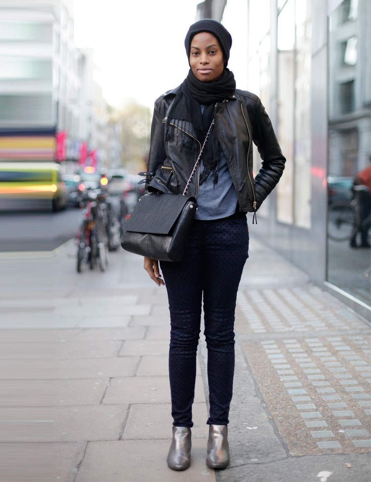 ELLE UK Shanika, 21, Sales Assistant. Pashmina scarf, Zara jacket, trousers and bag, River Island boots and hat.