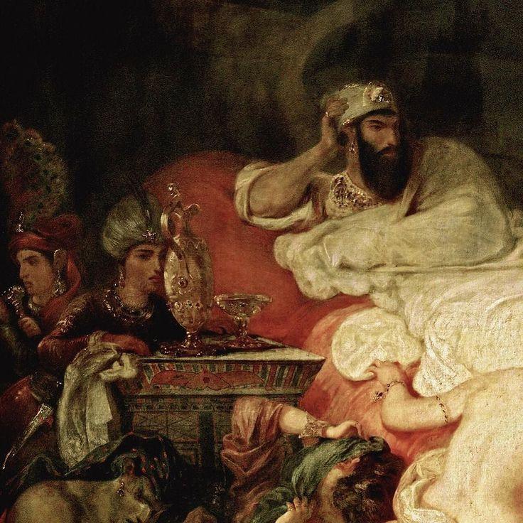 Eugène Delacroix la mort de #Sardanapale 1827  Œuvre magistrale de #Delacroix qui marque selon beaucoup d'historiens la naissance du #romantisme dans la peinture. À nuancer (un mouvement artistique ne naît jamais du jour au lendemain mais est plutôt le fruit d'une lente mutation ou dilution d'influences) avec le #romantisme noir anglais ou allemand à la fin du 18ème. Le romantisme pictural est un art de la couleur du mouvement mettant fin à la rigidité du #neoclassicism.  #peinture…