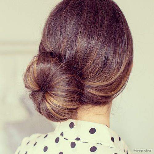 A bold, chic low bun is our fave for #brides! #weddinghair