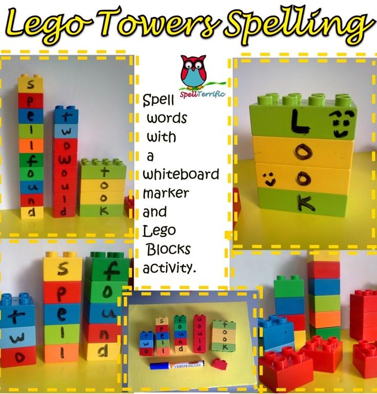 SpellTerrific - Spelling Ideas and Activities: Spelling Idea 31 - Lego Towers Spelling Activity