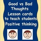 Positive thinking is a crucial skill for students to learn and implement so they can be successful learners. Often students will think negatively i...: Thoughts, Negative Thinking Activities, Counseling Lessons Activities, School, Social, Students Positive, Positive Thinking Kids, Teaching Students, Positive Self Talk For Kids