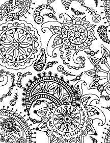 Kleurplaat Fridget Best 25 Paisley Coloring Pages Ideas On Pinterest