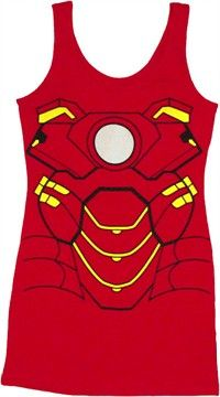 Iron Man Costume Tank Top Dress