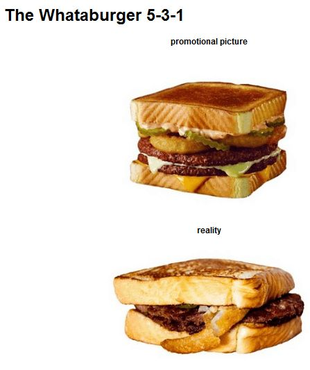 What burger is that? Fast Food Advertising Versus Reality • Page 4 of 6 • BoredBug