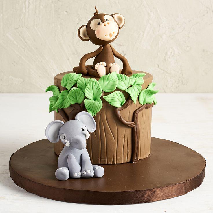 Торт с обезьянкой фото