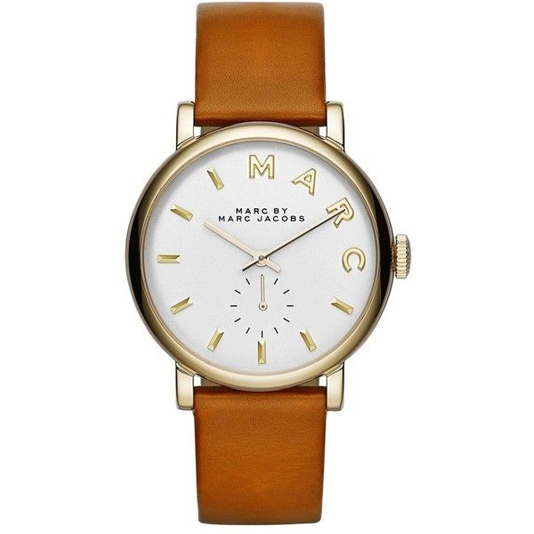 MARC BY MARC JACOBS 'Baker' Leather Strap Watch, 37mm found on Polyvore