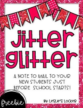 Help ease any nerves that your new friends may have about starting school this year! This is a letter to send to them, in the mail, a few days before school starts. I stick mine in an envelope with some glitter for them to sprinkle under their pillow the night before school.
