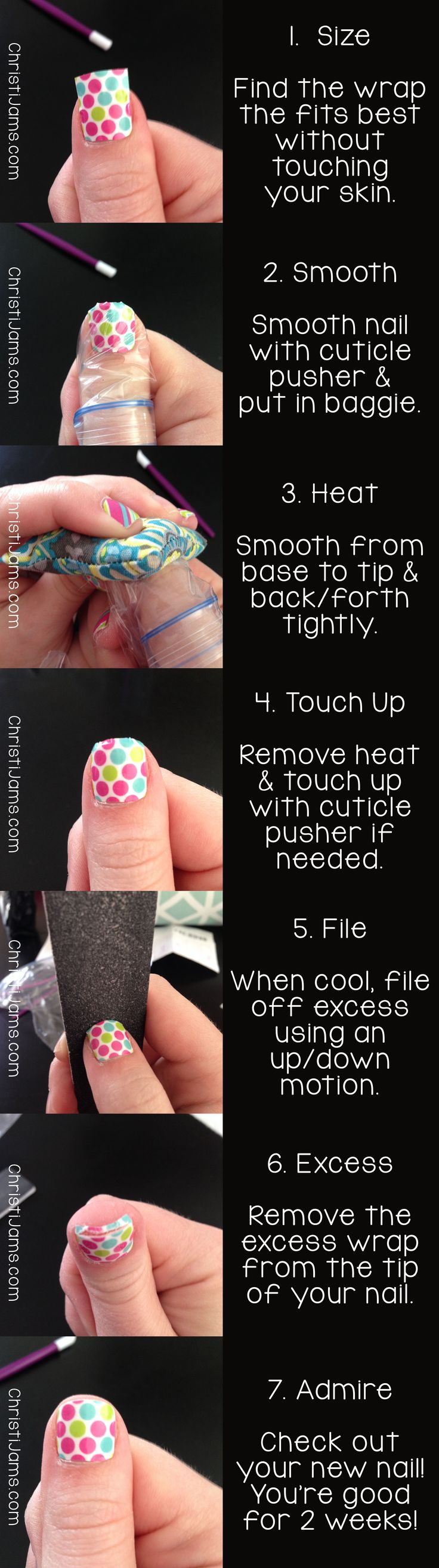 This is a great way to apply your wraps. The bag helps seal the tips for you who are very active. www.rayrays.jamberrynails.net https://www.facebook.com/RayraysHandcraftedGifts