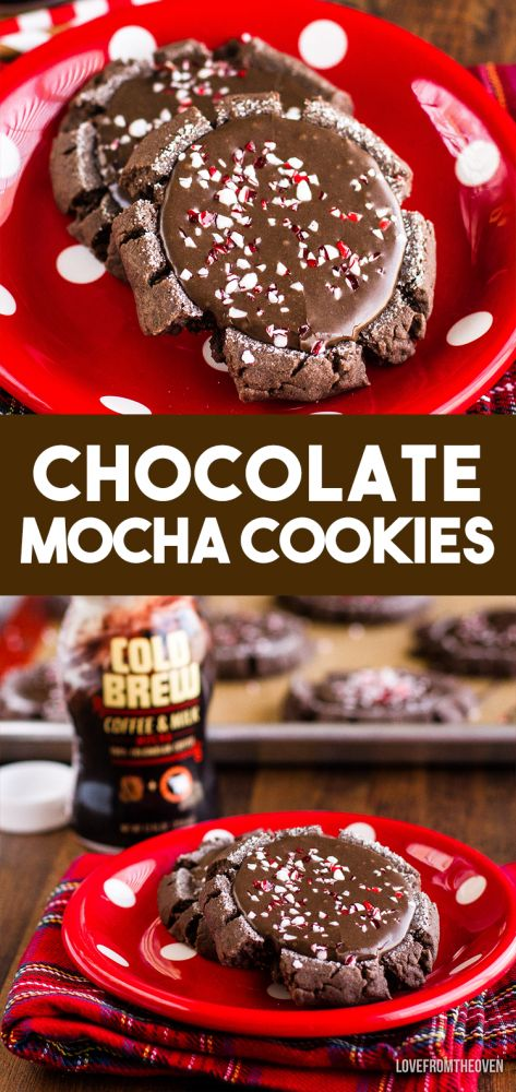 These rich and delicious chocolate mocha cookies are easy to make and are sure to be a crowd pleaser!