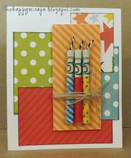 Money Candle Bday Card