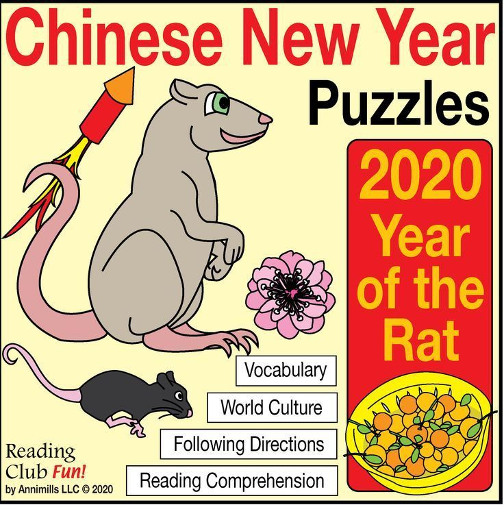 Chinese New Year 2020 Year Of The Rat Pack With Bonus Puzzles About China Chinese New Year 2020 Chinese New Year New Years Traditions