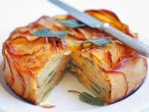 Potato Cheese & Onion Pie