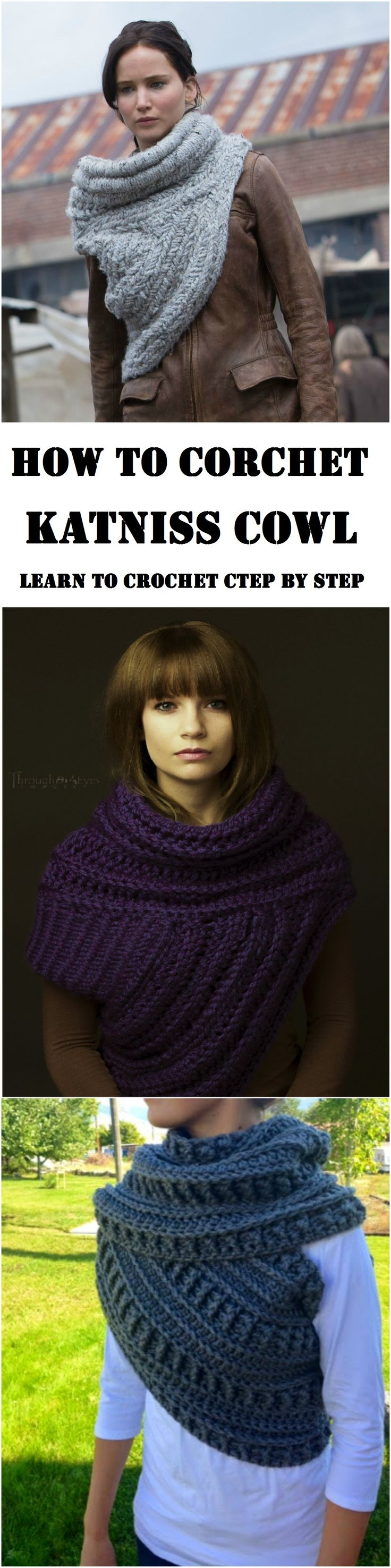 this is a cowl inspired by a book and a movie character Katniss Everdeen, it look very stylish and very warm too. Free instructions, learn how to crochet it