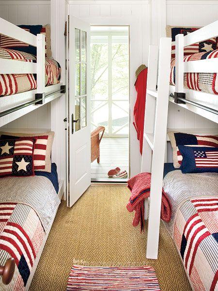 vIdeas, Lakes House, Beach House, Bunk Beds, Kids Room, Bunk Rooms, Bedrooms, Bunkroom, Boys Room