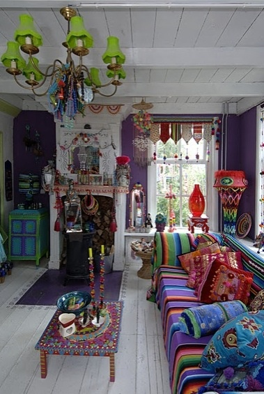 colorful living room..