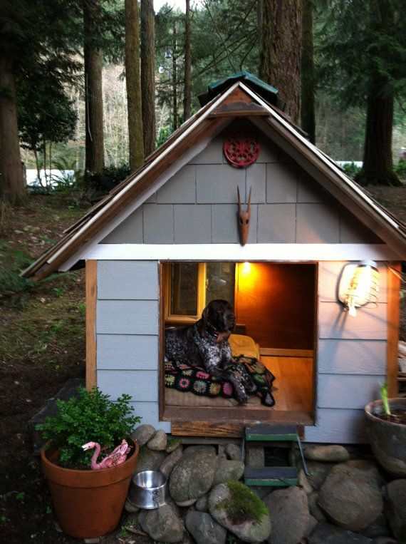 Extra Large Dog House made with 100 reclaimed by EastForkSpring, $999.00