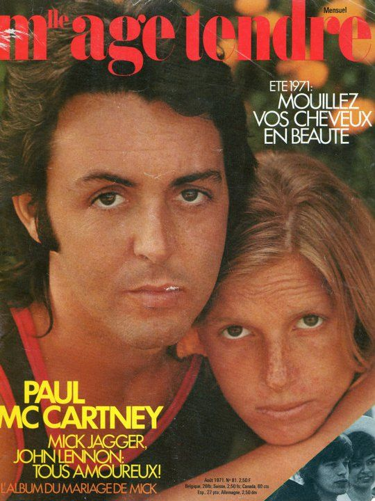 Paul et Stella Mc Cartney - Mademoiselle Age Tendre août 1971