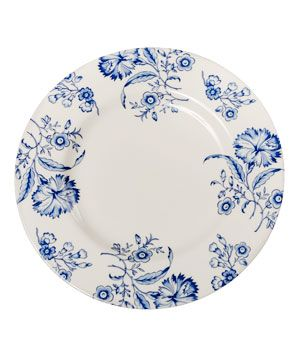 South Hampton by Charlotte Moss for Pickard China    From Moss' collaboration with America's oldest fine china company comes a charming blue and white print influenced by the popular seaside town.  To buy: $63*, pickardchina.com.  #chinapatterns