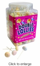 Double Lollies -  Sweet Tart Suckers - 200 Count. These are my absolute favorites! I take a jug of them to work with me, you wouldn't believe the friends I have. Only $19.99.