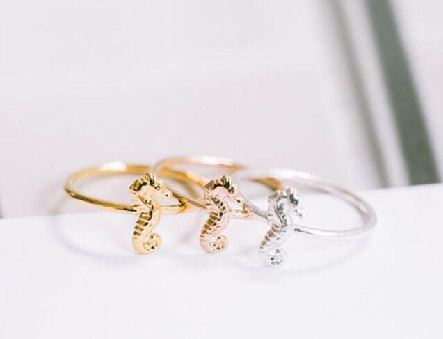 Aliexpress.com: Compre 2015 Ouro Prata Rosa de Ouro Legal knuckle midi Anéis Para Mulheres Homens Do Cavalo de Mar de Noivado Casamento Moda Festa de Jóias Acessórios de confiança anéis de moda para as mulheres fornecedores em Yiwu Wonders Jewelry Store