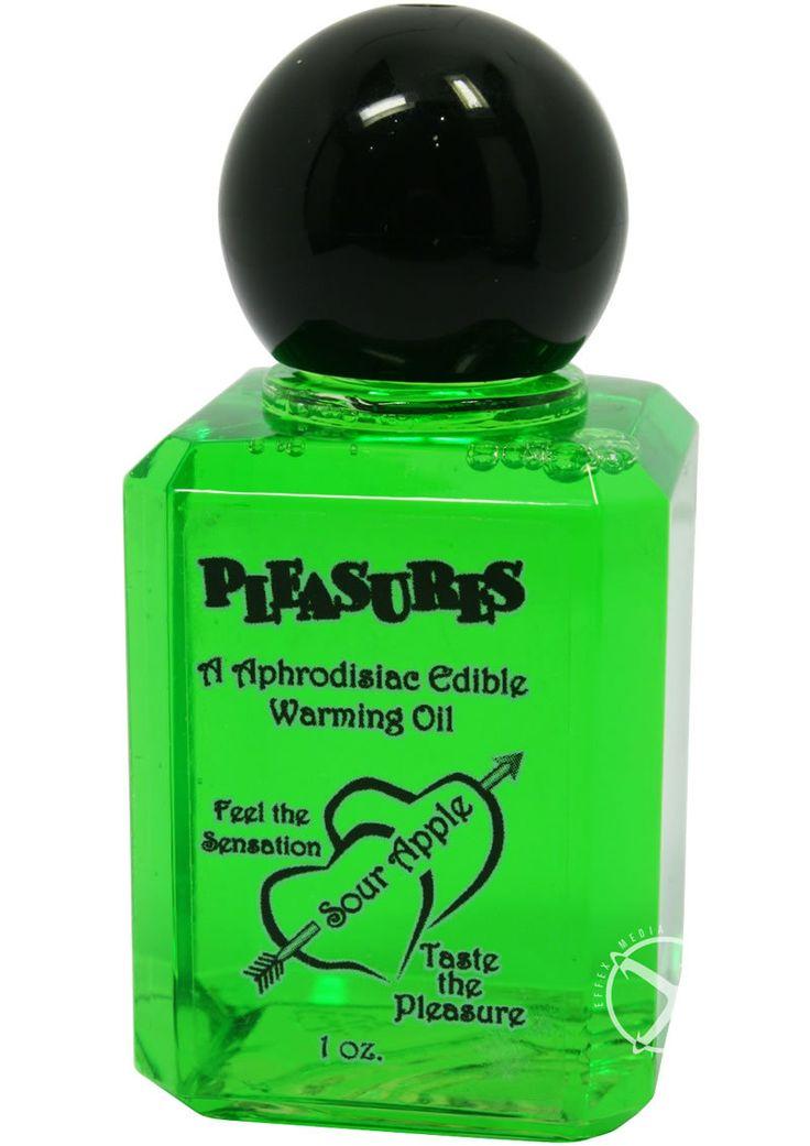 Pleasures Aphrodisiac Edible Warming Oil Sour Apple 1oz