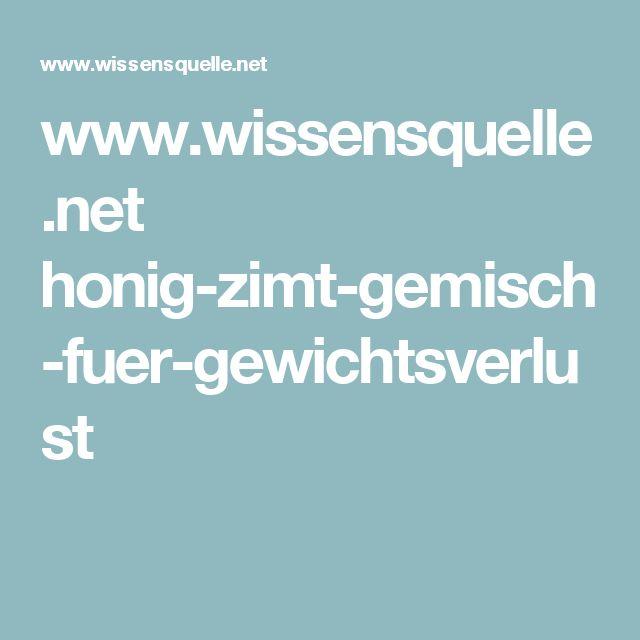 www.wissensquelle.net honig-zimt-gemisch-fuer-gewichtsverlust