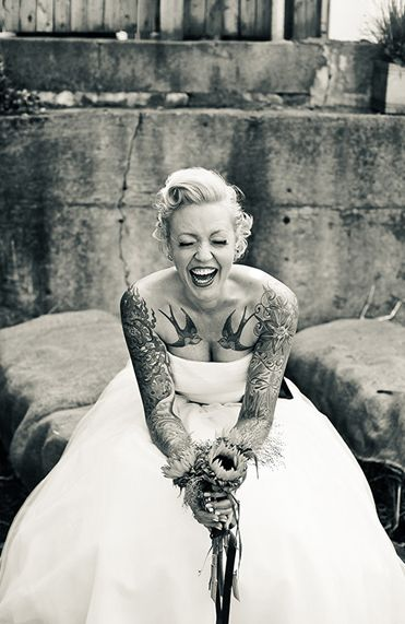 Brides elegant tattoos