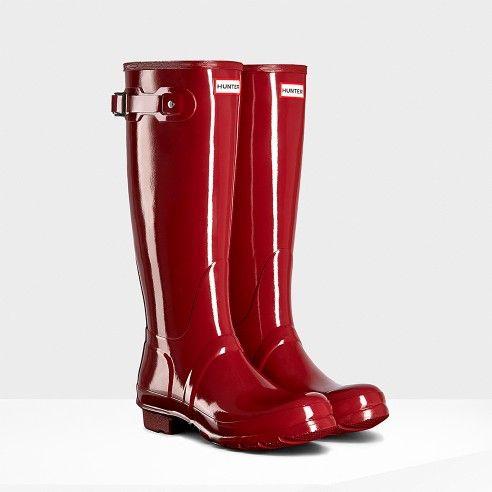 Original Tall Gloss Rain Boots   Hunter Boot Ltd
