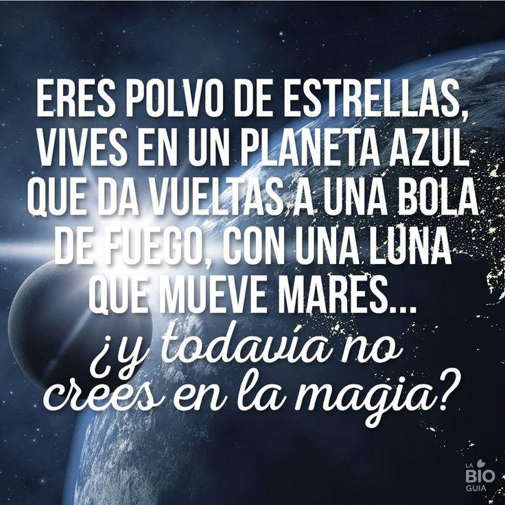 ❝ #FelizLunes - Eres polvo de estrellas, vives en un planeta azul que da vueltas a una bola de fuego... ❞ ↪ Puedes verlo en: www.proZesa.com