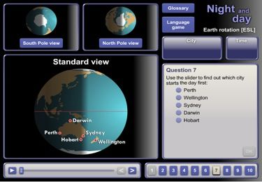 Earth rotation: night and day [ESL]