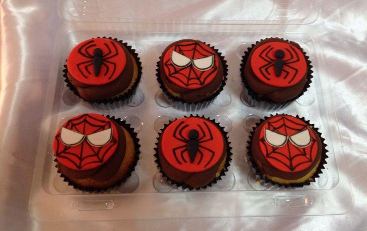Cupcakes de Spiderman