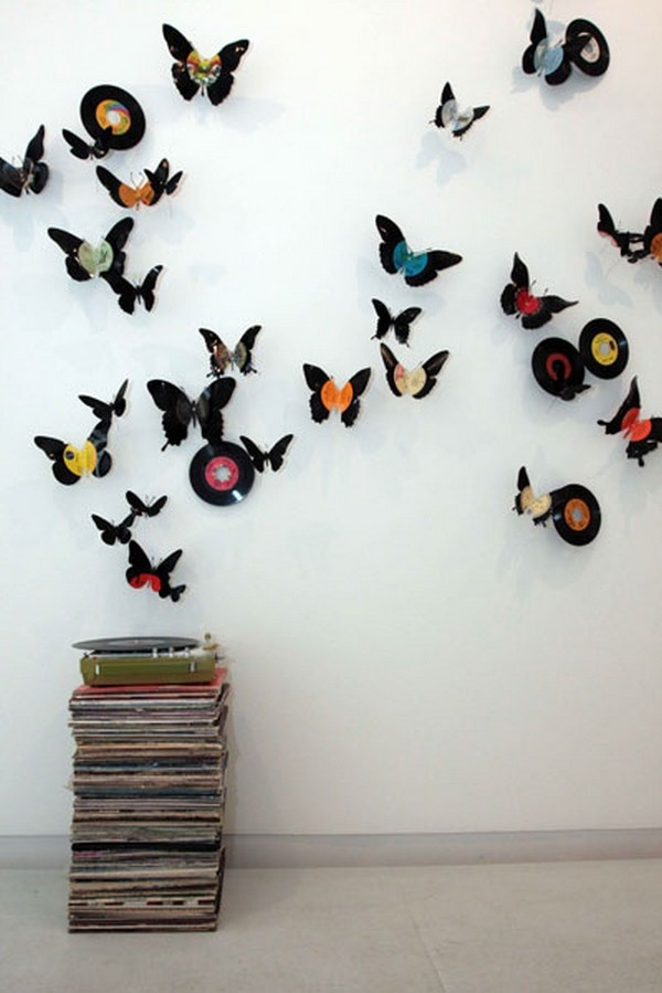 51 best lp record crafts uses images on pinterest vinyl for Crafts with old records