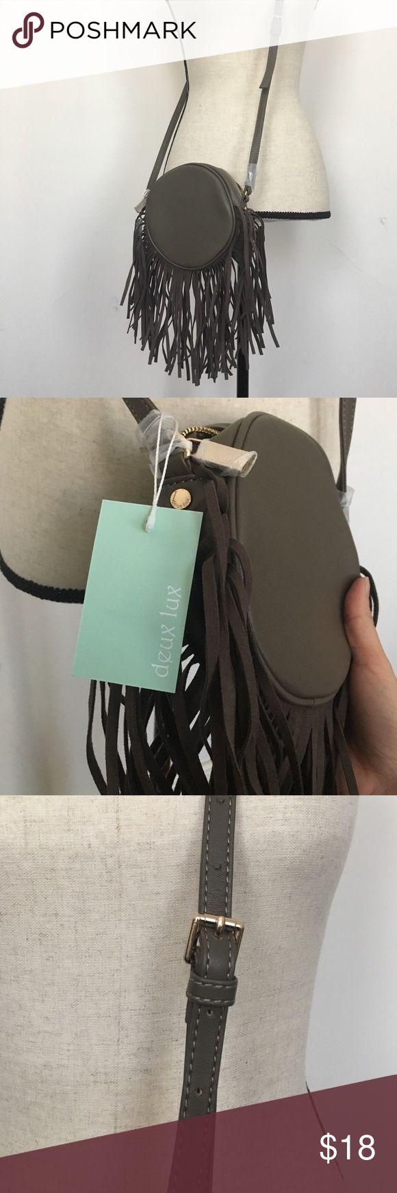 NWT DEUX LUX Joplin Fringe cross body purse Perfect for festival season! Deux Lux Bags Crossbody Bags