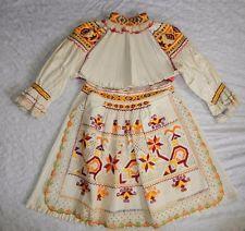 CHILD'S  Slovak Folk Costume  HAND embroidery blouse lace apron CICMANY kroj