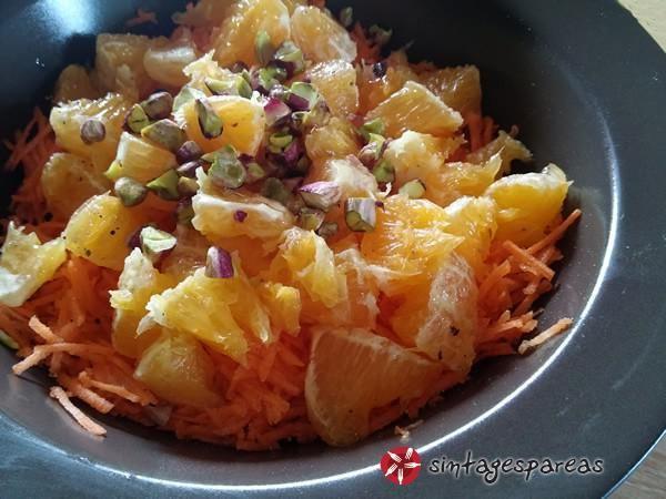 Σαλάτα με Καρότα και Πορτοκάλι #sintagespareas #salatameportokali