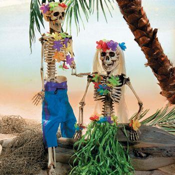 halloween tiki party ideas   Pygmies (as if I could do this) & tiki mask -