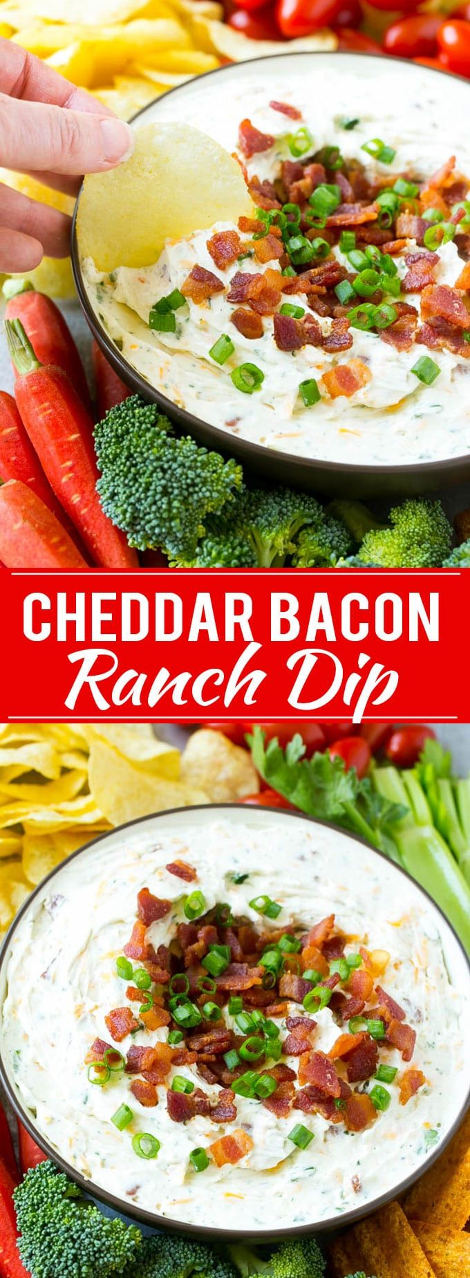 Bacon Ranch Dip Recipe -  takes just 5 minutes to make and is loaded with flavor.